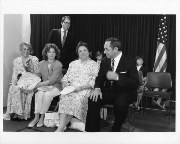 MaryBeth O'Neill, Kathleen Murray, Susan McCormack,  Governor Mario Cuomo