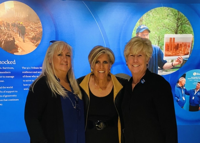 President of Survivors of the Shield Kathleen Vigiano, Financial Expert Suze Orman Vice President of Survivors of the Shield Patti Ann McDonald